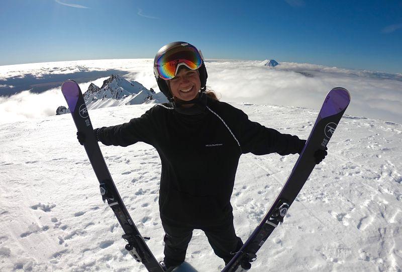 Monitrice de ski à Whakapapa en Nouvelle-Zélande