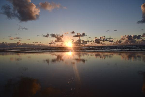 Lever de soleil lors de notre voyage à Fraser Island