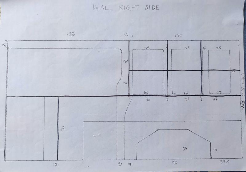 Plan van aménagé ford transit custom l2h1 mur