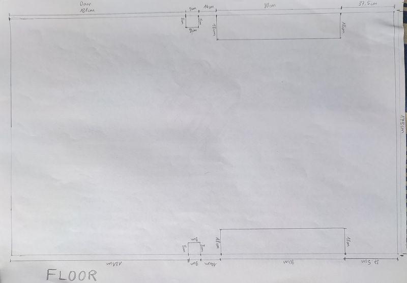 Plan vierge du sol du Ford Transit Custom